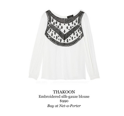 Thakoon embroidered silk blouse