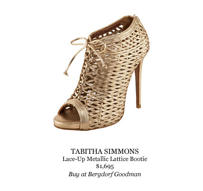 Tabitha Simmons metallic lace-up bootie