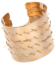BIDERMANN Brass and gold threaded cuff
