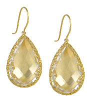 LARKSPUR & HAWK<br /> Sophia 22-karat gold-dipped topaz earrings