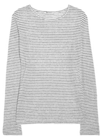 T BY ALEXANDER WANG<br /> Striped linen-jersey T-shirt