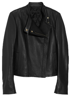 THE ROW<br /> Cookton textured-leather biker jacket