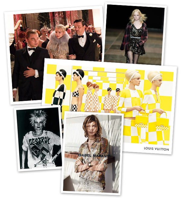 Multi-decade fashion trends
