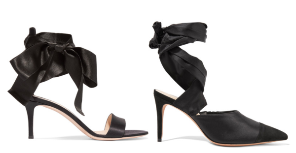 Gianvito Rossi Satin Sandals & Alexandre Birman Pumps