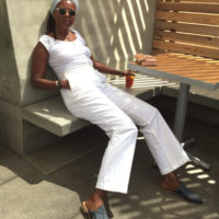 Agnes Baddoo's Favorite White Jeans