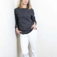Alyson Walsh White Jeans post