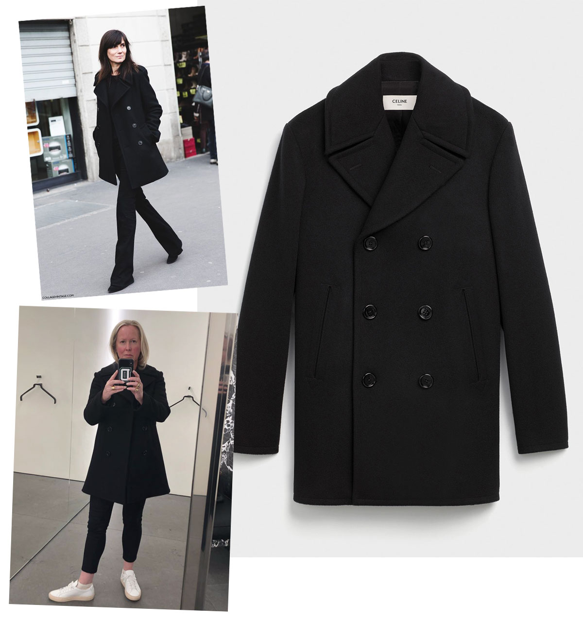 c1fa09fab38 It s SS19 Celine (Slimane is a master tailor) and will be perfect next  fall. I bang my little drum constantly about buying something when you find  ...